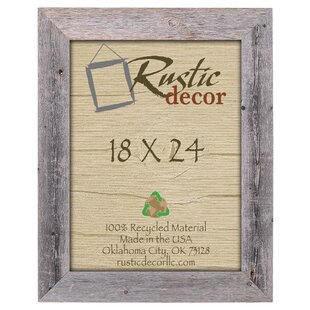 Barn Wood Reclaimed Extra Wide Wall Picture Frame By Rustic Decor