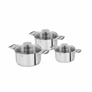 Casteline Pot Set with Lid (Set of 3)