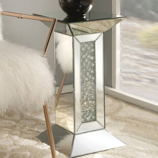 Budget Longo Mirrored Pedestal End Table By Rosdorf Park