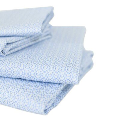 400 Thread Count Cotton Jasmine Sheet Set Bunglo Size: Queen