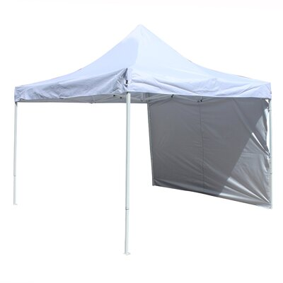 Collapsible 10 Ft. W x 10 Ft. D Metal Pop-Up Canopy ALEKO