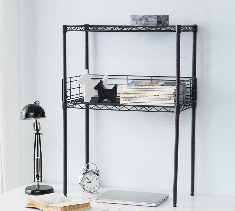 Rebrilliant Burroughs 33 5 H X 24 W Steel Etagere Bookcase Wayfair