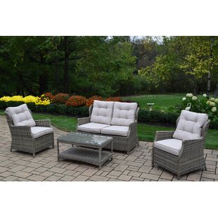 Borneo 4 Piece Sofa Set with Cushions