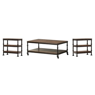 Compare prices Yreka 3 Piece Coffee Table Set By Trent Austin Design