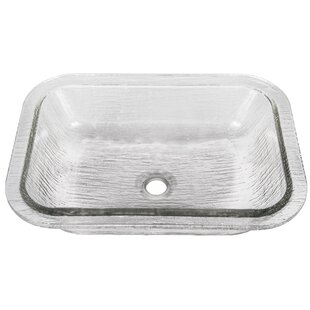 JSG Oceana Oasis Glass Rectangular Undermount Bathroom Sink