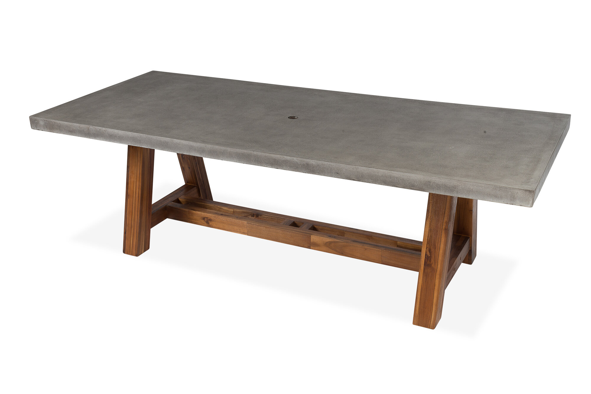 Foundry Select Colegrove Stone Dining Table Wayfair - Wood and stone dining table