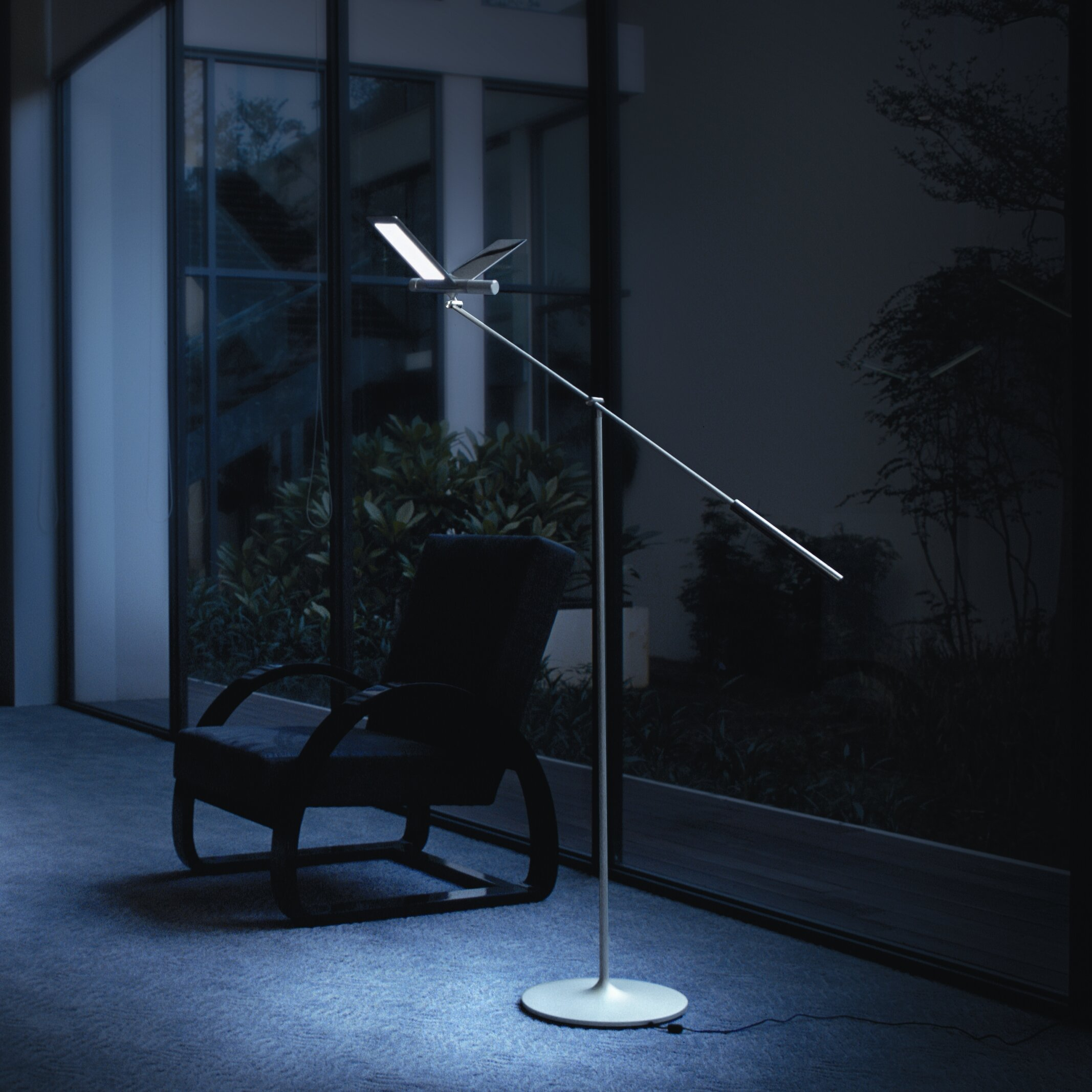 Qisdesign Seagull 64 8 Led Task Floor Lamp Wayfair