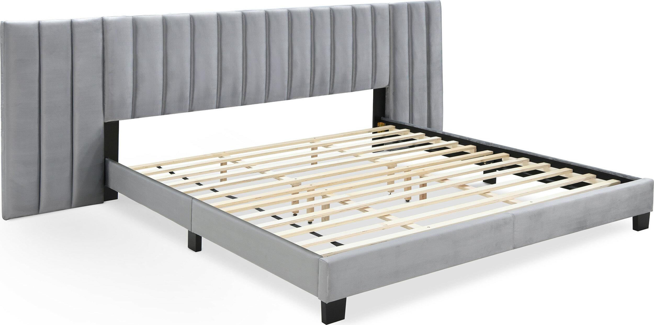 Rosdorf Park Mccaskill Gramercy Channel Tuftedupholstered Platform Bed Reviews Wayfair