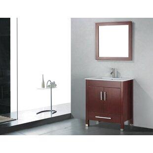 Price Check Vidya 30 Single Wood Bathroom Vanity Set with Mirror ByLatitude Run