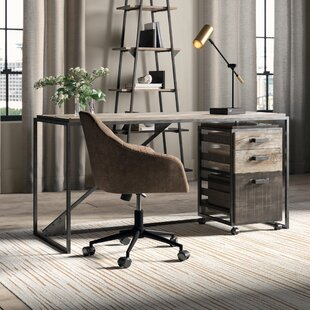 Edgerton Industrial 2 Piece Desk Office Suite with 3 Drawer Cabinet