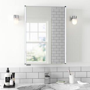 Meloso 50cm X 70cm Surface Mount Mirror Cabinet With LED Lighting By Hudson Reed
