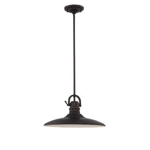 Gracie Oaks LaRena 1-Light Cone Pendant