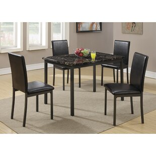 Simental 5 Piece Dining Set Latitude Run
