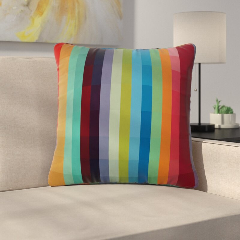 East Urban Home Modern Square Throw Pillow