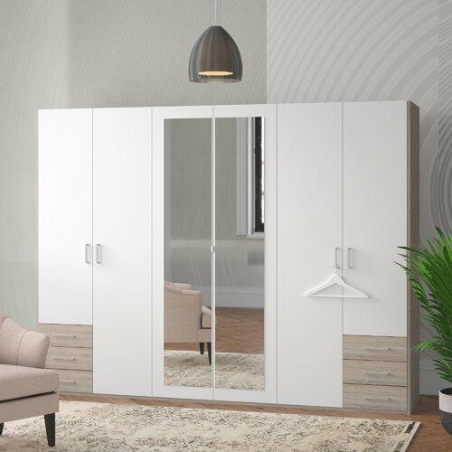 Drehtürenschrank Fügen | Schlafzimmer > Kleiderschränke > Drehtürenschränke | Weiß / eiche | Holzwerkstoff | Wimex