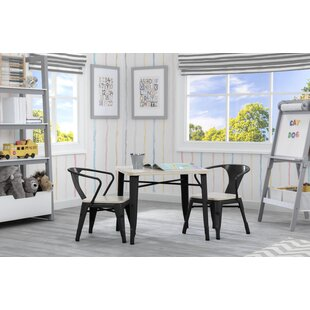 Glastonbury Kids 3 Piece Writing Table and Chair Set by Harriet Bee