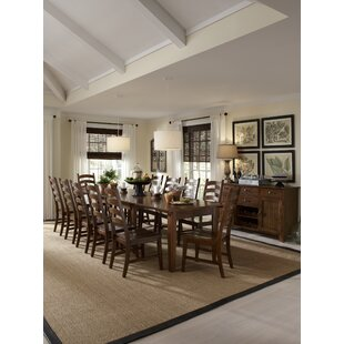 Birchley 13 Piece Extendable Solid Wood Dining Set