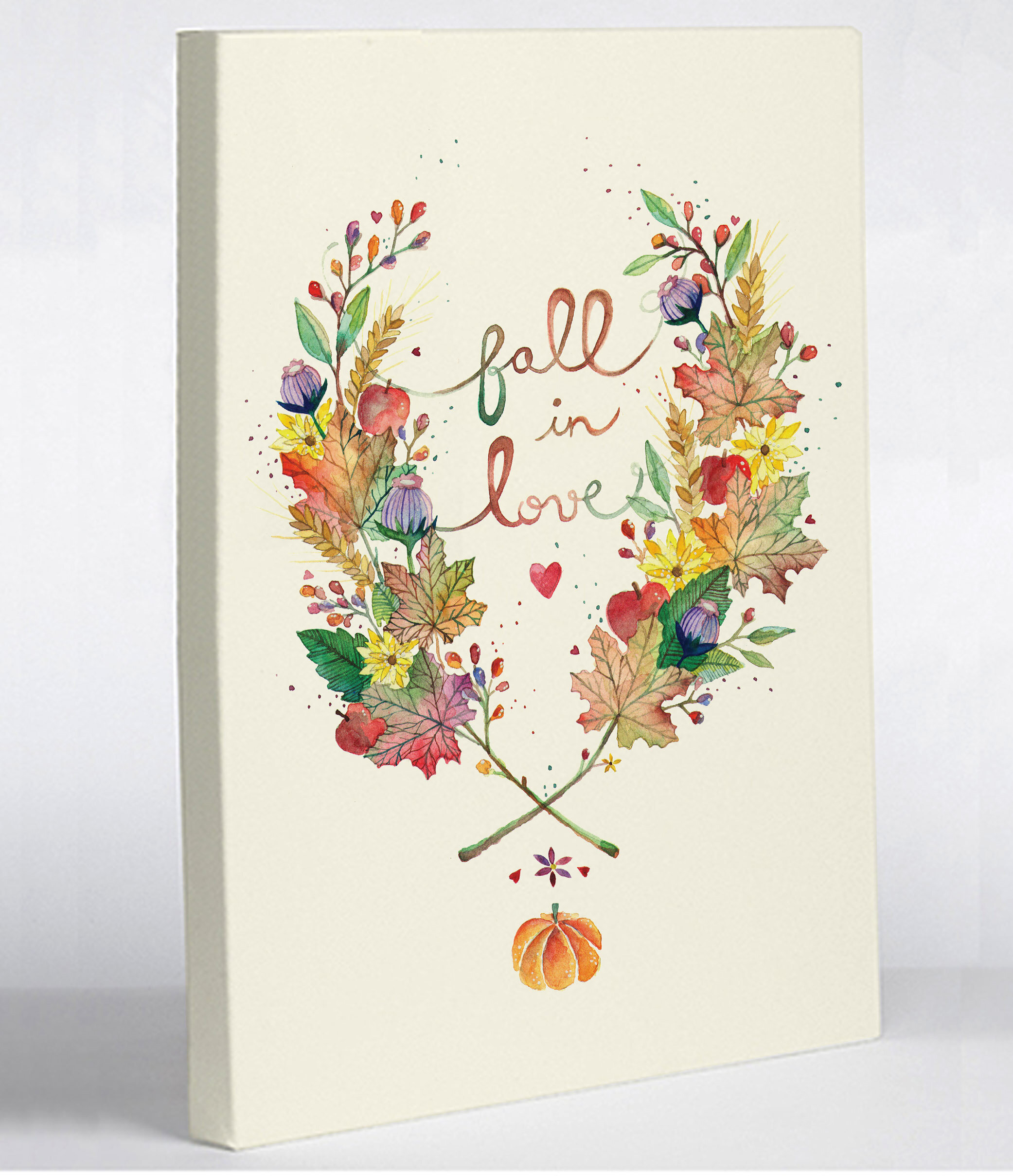 One Bella Casa Fall In Love Ana Victoria Calderon Graphic Art On Wrapped Canvas Wayfair