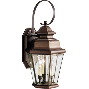 Top Reviews Bigley 3-Light Outdoor Wall Lantern By Darby Home Co
