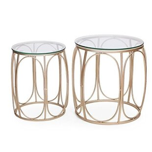 2 Piece Nesting Tables by Adeco Trading Bargain