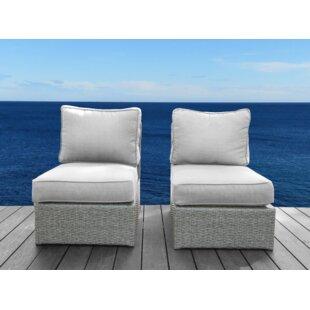 Orren Ellis Shick Armless Chair (Set of 2)