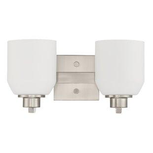 Price comparison Quartz 2-Light Vanity Light By Sunset Lighting