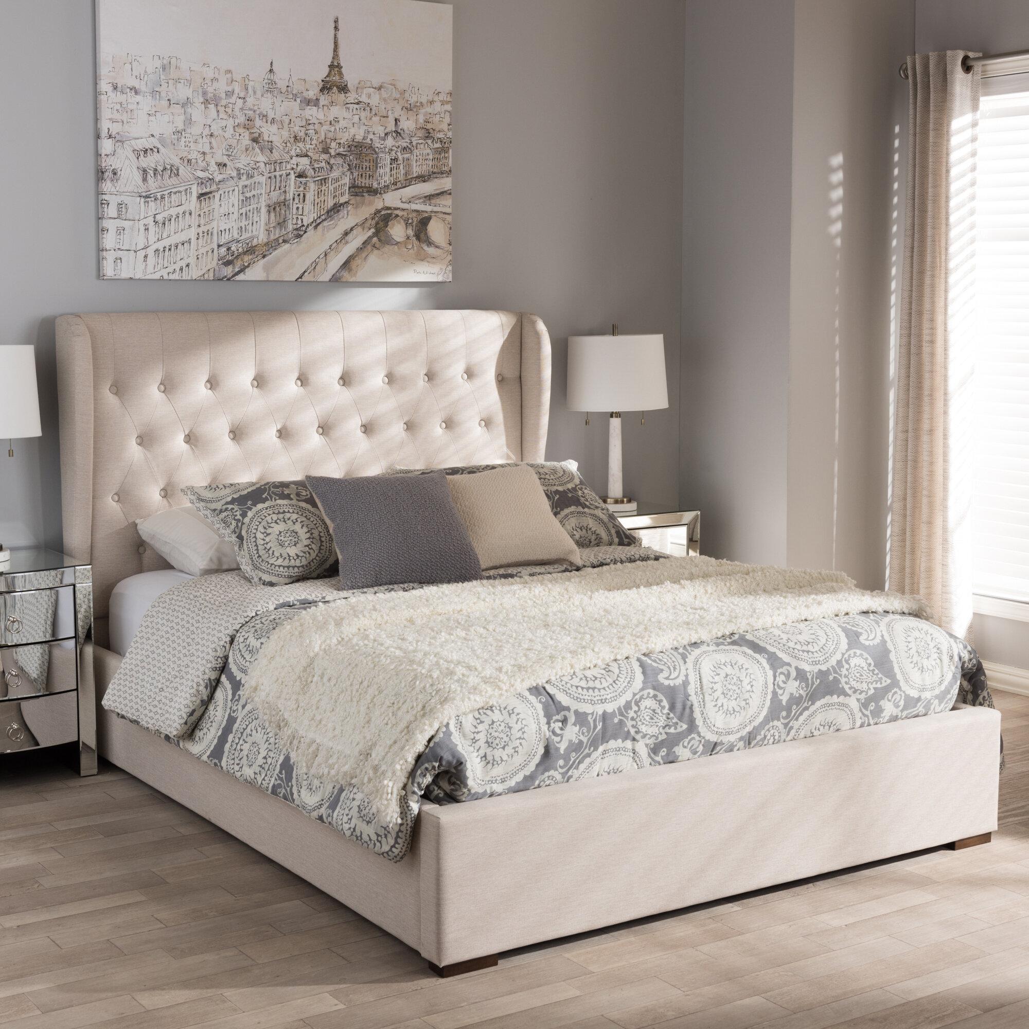 Birch Lane Sedgwick Queen Contemporary Wood Upholstered Storage Platform Bed Reviews Wayfair