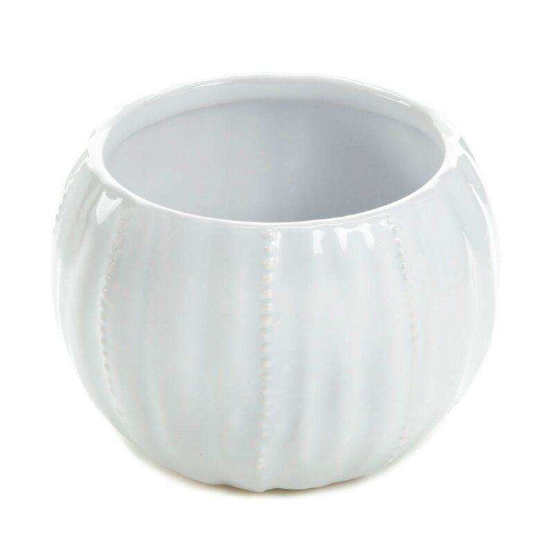 White Pure Ceramic Candleholder (Part Number: 57071941) by Zingz & Thingz