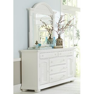 Dickens 5 Drawer Combo Dresser With Mirror by Beachcrest Home Cool