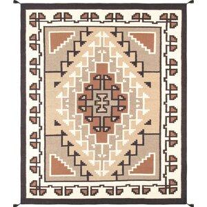 Kilim Hand-Woven Wool Brown/Beige Area Rug