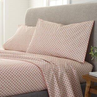 Serafino Organic Comfort Wash 200 Thread Geometric 100% Cotton Sheet Set