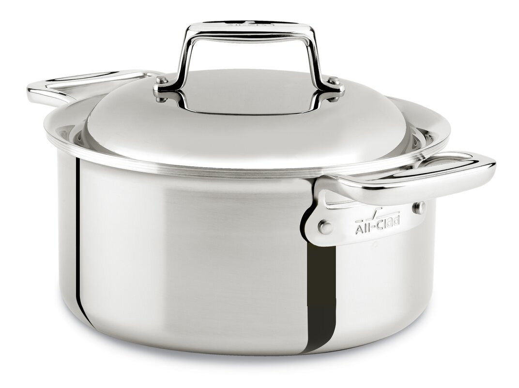 All-Clad D7 3.5-qt. Stainless Steel Round Dutch Oven with Lid ...
