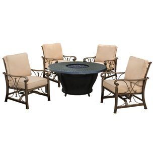 Owego 5 Piece Conversation Set with Cushions