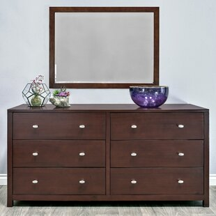 Erskine 6 Drawer Double Dresser with Mirror