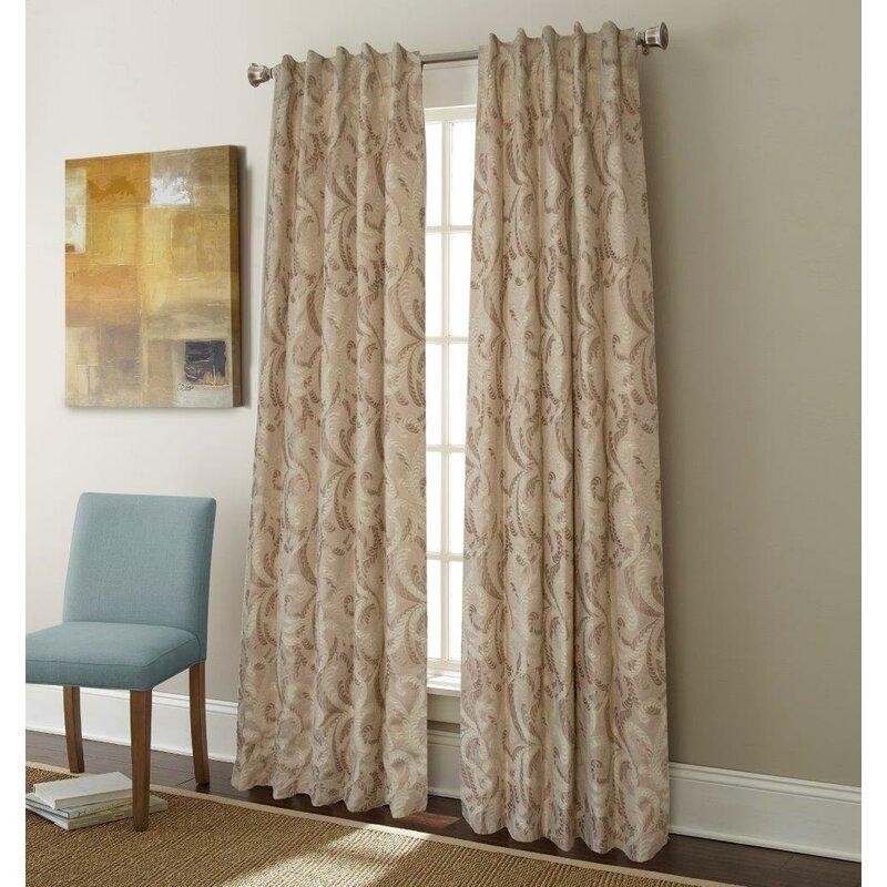 Sherry Kline Charlton Nature Floral Room Darkening Rod Pocket Single Curtain Panel Wayfair