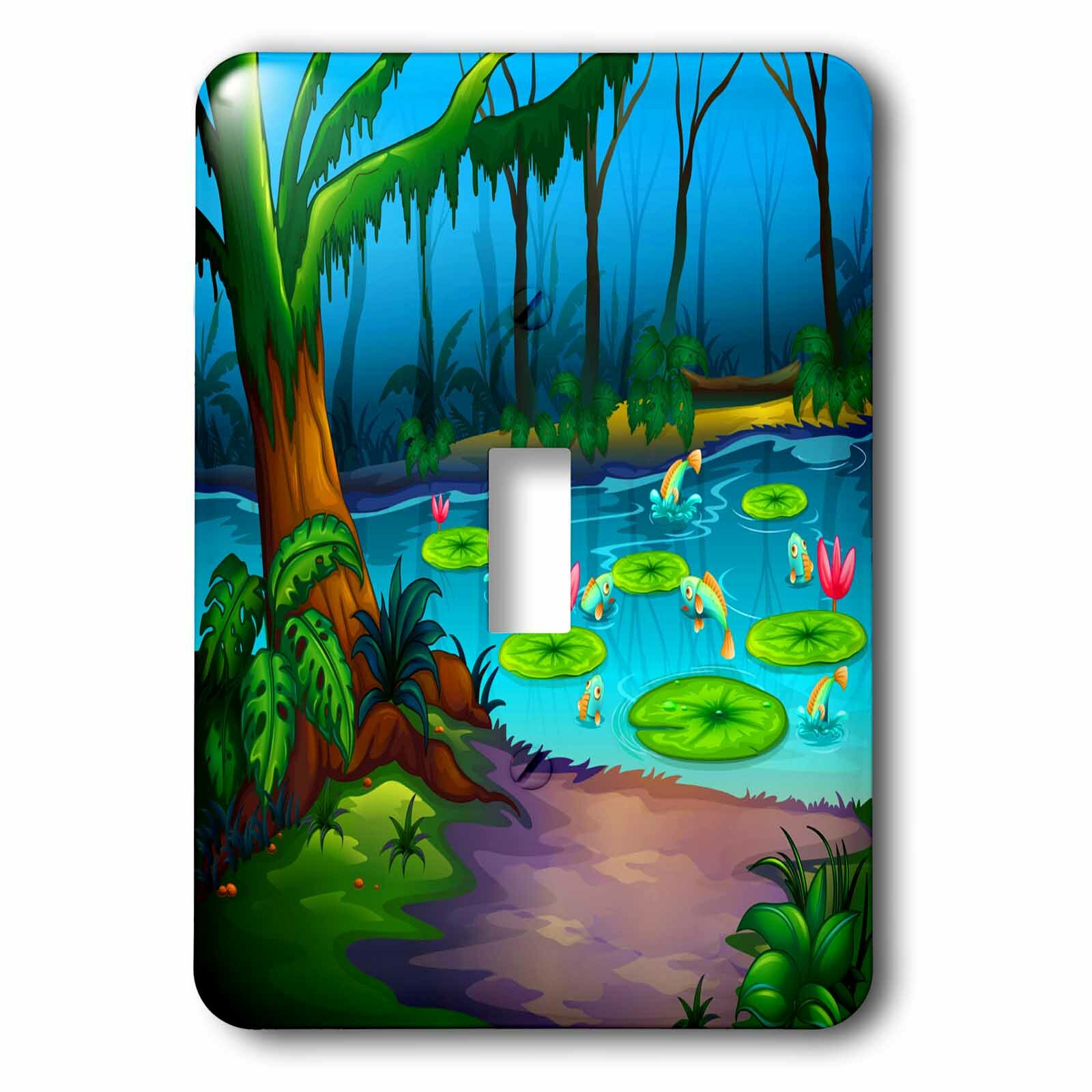 3drose Frogs Lilly Pads Trees Lake 1 Gang Toggle Light Switch Wall Plate Wayfair