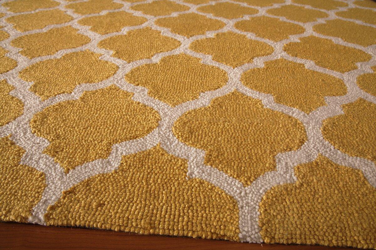 cara handhooked yellow area rug. cara handhooked yellow area rug  reviews  joss  main