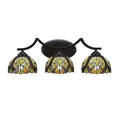 Pickens 3 Light Vanity Light Astoria Grand Shade Color Ivory