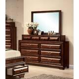 Annalee 10 Drawer Double Dresser with Mirror