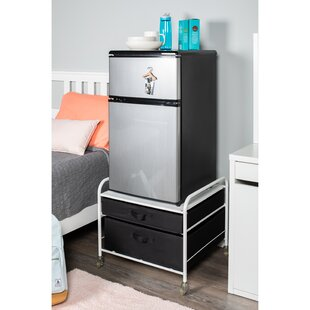 Affordable Price Gomes Fridge Stand Supreme 2 Drawer Storage Chest By Rebrilliant