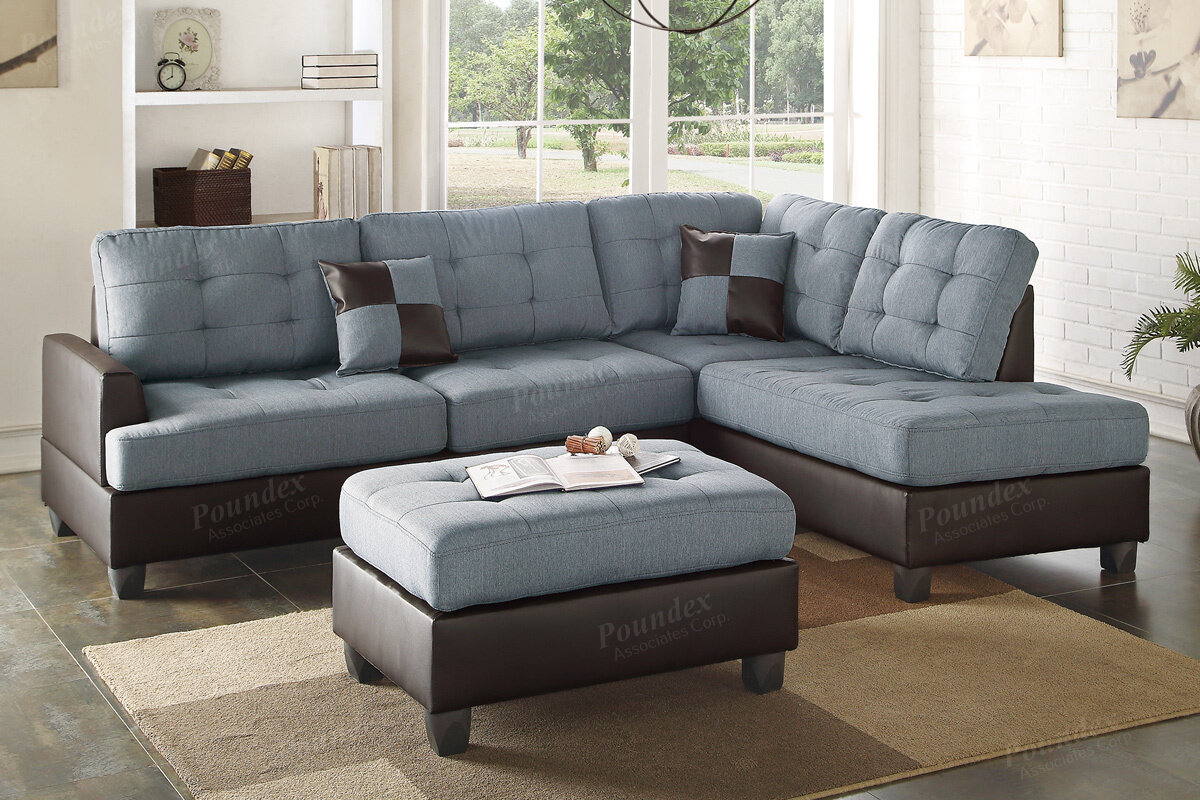 bobkona sofa poundex modular sectional pcs productdetails catalogsite