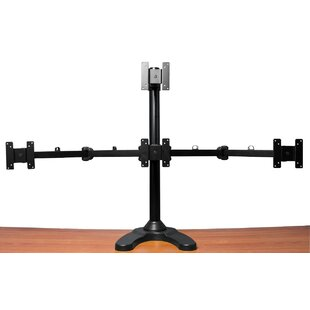Quad LCD Monitor Freestanding Tilt and Swivel Desktop Mount for 24 LCD Screen