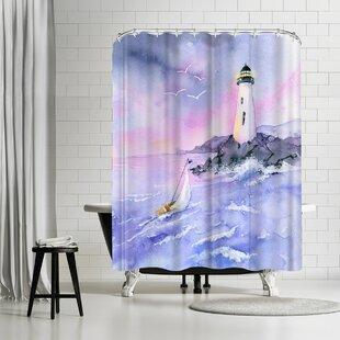 Rachel McNaughton Light and Surf Single Shower Curtain