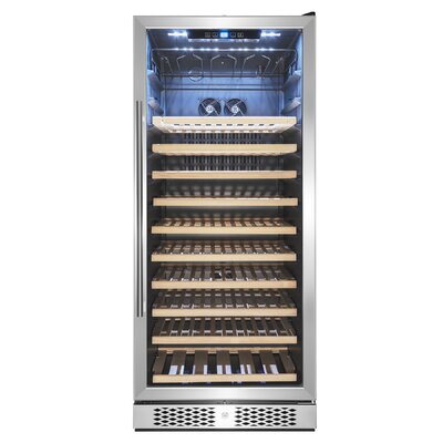 59 Bottle Touch Panel Single Zone Freestanding Wine Cooler AKDY
