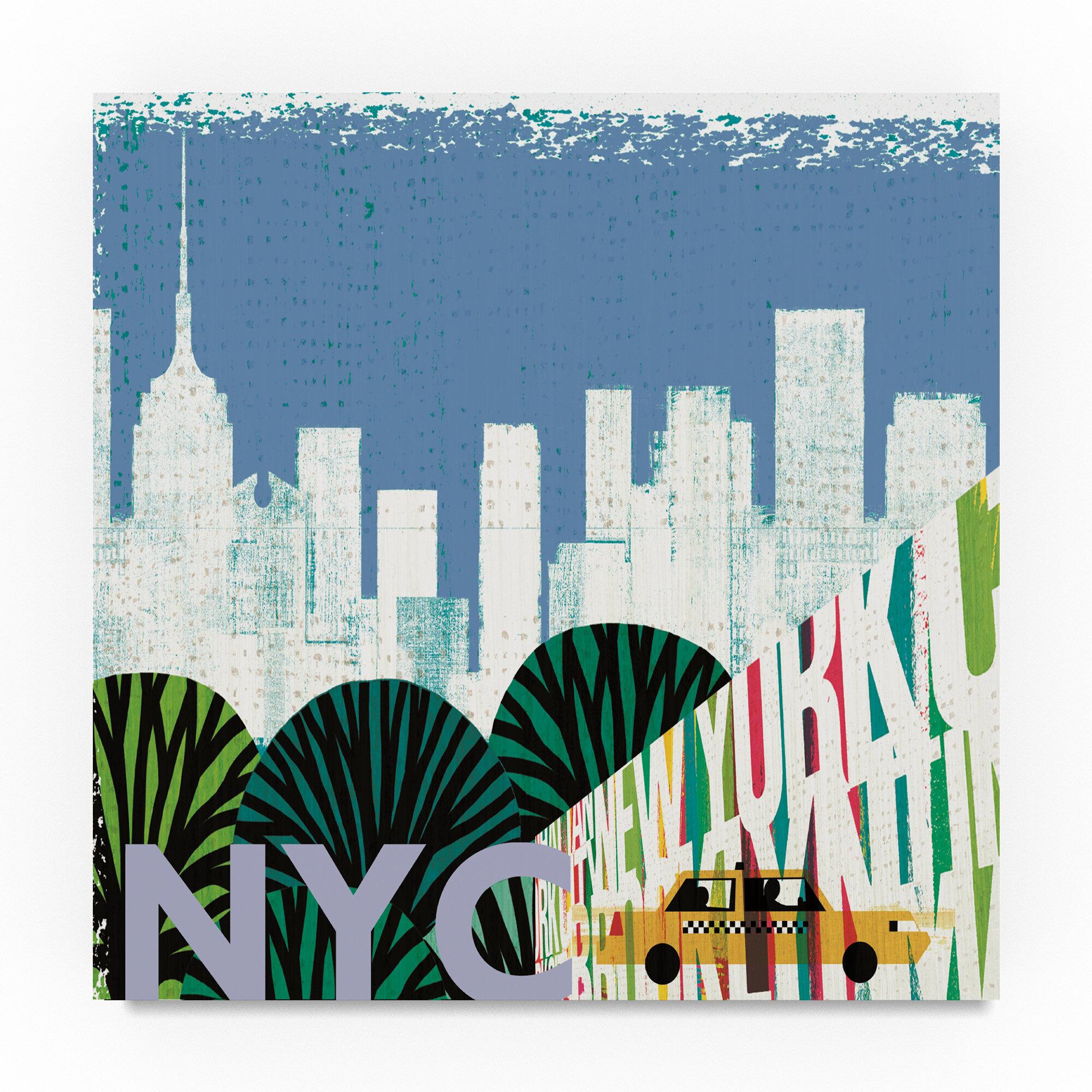 Trademark Art \'New York City Life NYC\' Graphic Art Print on Wrapped ...