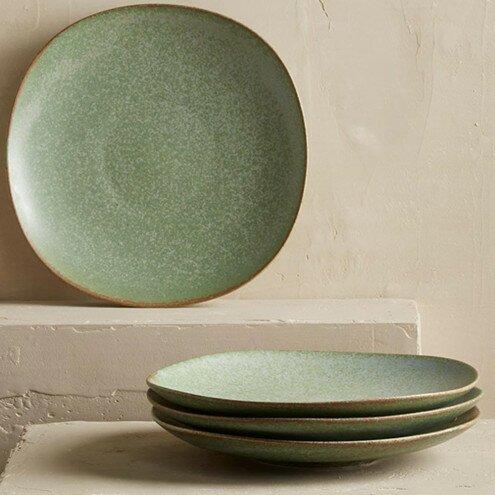 Terra Green Stone 9\  Dinner Plates & VivaTerra Terra Green Stone 9\