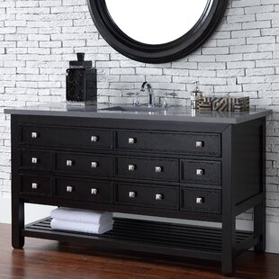 Kramer Traditional 60 Single Cerused Espresso Oak Bathroom Vanity Set by Darby Home Co