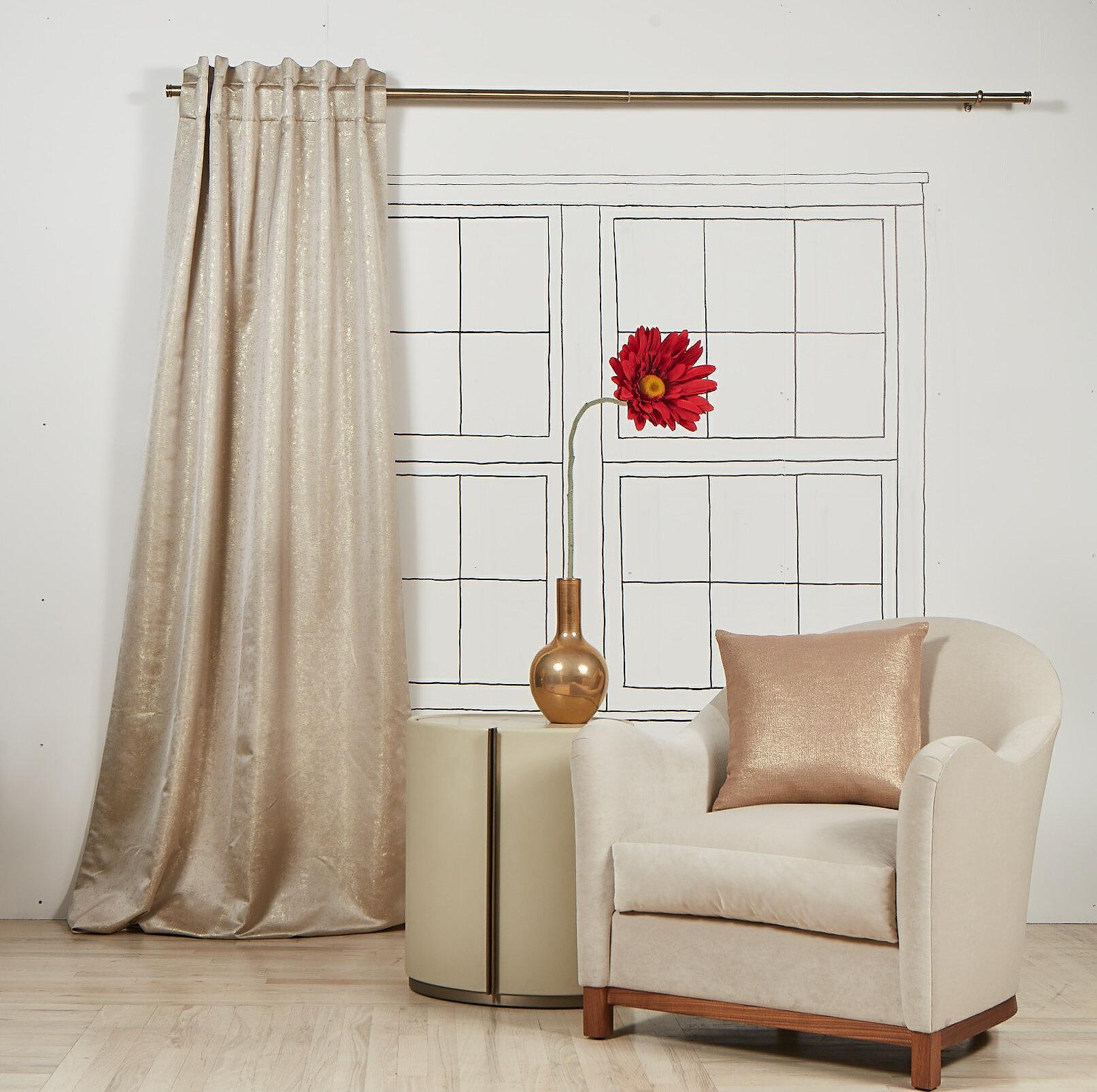 Ann Gish Abstract Room Darkening Rod Pocket Single Curtain Panel Wayfair
