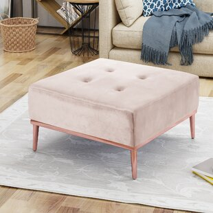Mercer41 Abdallah Glam Tufted Cocktail Ottoman