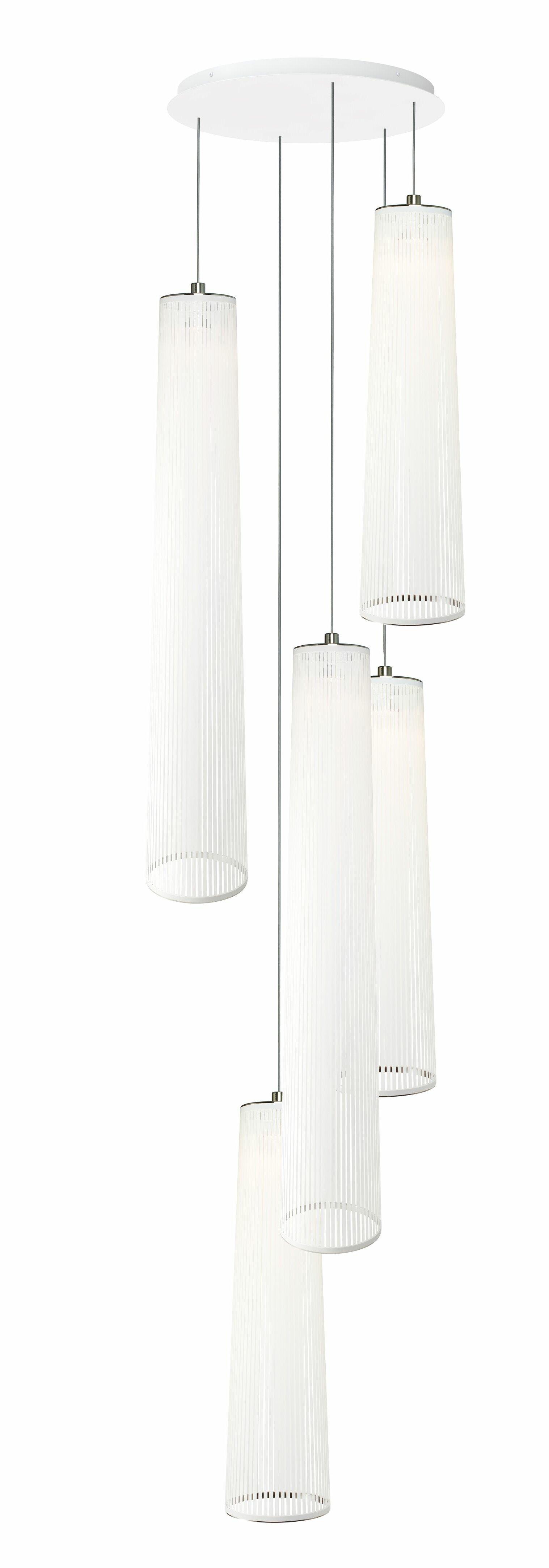 86e1ef85c8c7 Pablo Designs Solis 5-Light Geometric Pendant | Wayfair